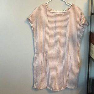 Madewell tunic dress with back buttons